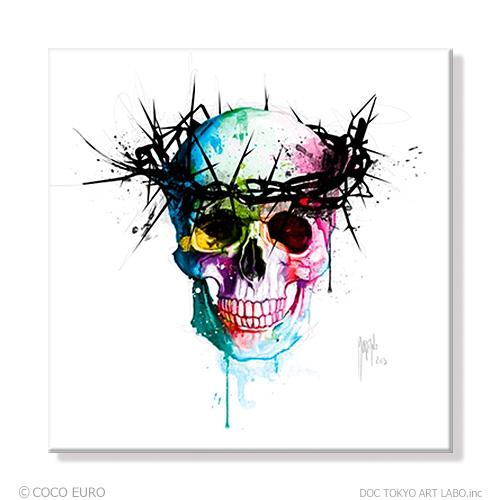 PLEXIGLAS JesusSkull SIZE 890x890mm 絵画 インテリア アート モダン おしゃれ 壁 飾り 絵 ポップ アクリル カラフル ビビッド /上位モデル