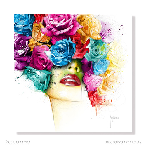 PLEXIGLAS La Vie en Rose SIZE 890x890mm 絵画 インテリア アート モダン おしゃれ 壁 絵 ポップアート アクリル ビビッド /上位モデル