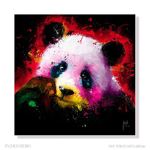 Panda Pop SIZE:890*890mm アート 壁掛け 絵画 インテリア vividゲストルーム 店舗内装 インテリアアートハイエンド フレームレスアートCOCOEURO【市場限定】 正規品