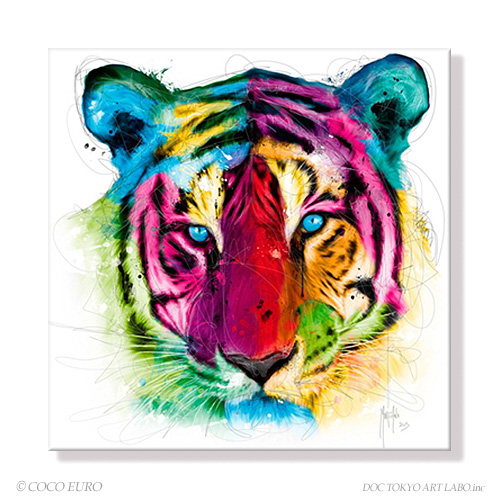 PLEXIGLAS Tiger Pop SIZE 890x890mm 絵画 壁掛け インテリア 装飾 おしゃれ 壁 絵 店舗内装 アート 【上位モデル 最高級マテリアル】正規品 PLEXIGLASS VIVID