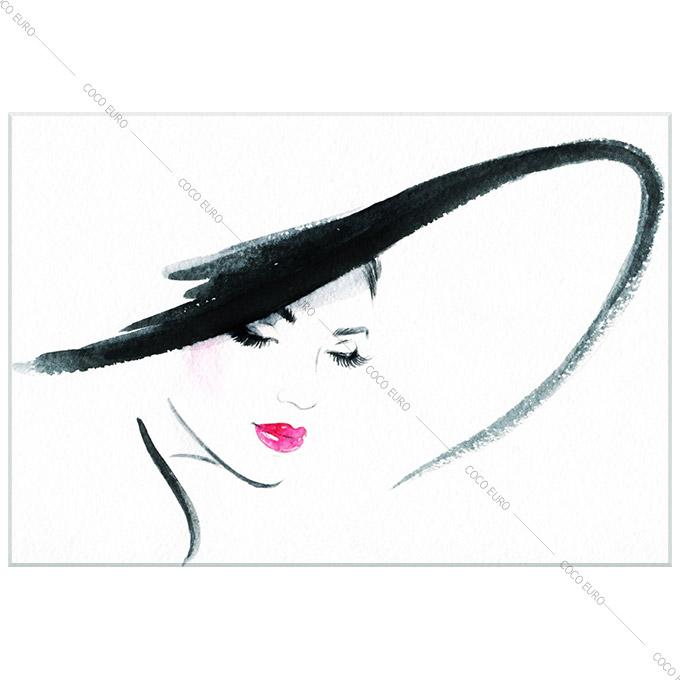 絵画 モダン PLEXIGLAS Chapeau elegant3 SIZE mm 1200*1800 アート 装飾 壁 絵 ココ コブラアート上位モデル 高級 フレームレスアート