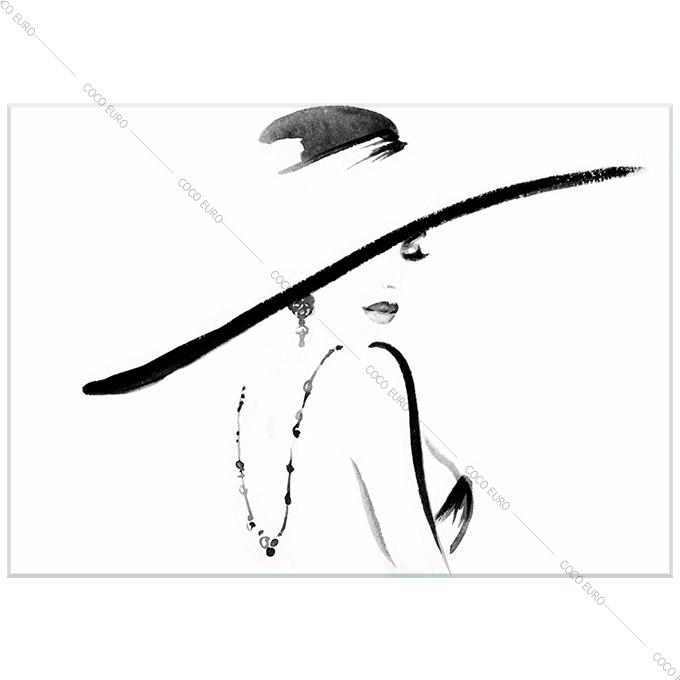 絵画 おしゃれ PLEXIGLAS Chapeau elegant2 SIZE mm 900*1200 アート 装飾 壁 絵 ココ コブラアート上位モデル 高級 フレームレスアート