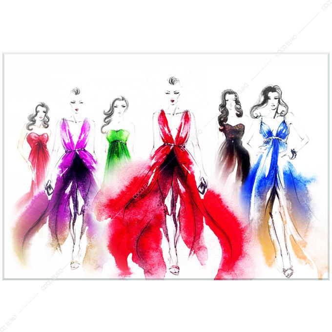 絵画 インテリア PLEXIGLAS Art de la mode1 SIZE mm 1200*1700 アート 装飾 壁 絵 ココ コブラアート上位モデル 高級 フレームレス 正規品