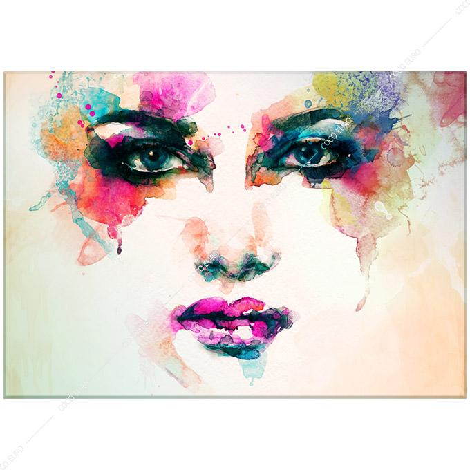 絵画 インテリア PLEXIGLAS Visage de femme2 SIZE mm 700*1000 アート 装飾 壁 絵 ココ コブラアート 高級 フレームレス