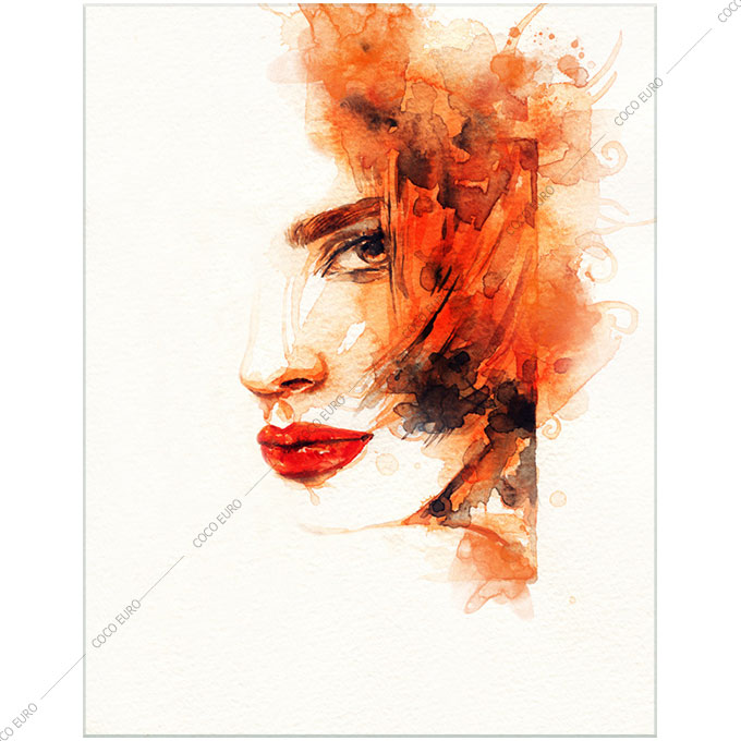 絵画 モダン PLEXIGLAS Aquarelle Portrait5 SIZE mm 1500*2000 アート 装飾 壁 絵 ココ コブラアート上位モデル 高級 フレームレスアート