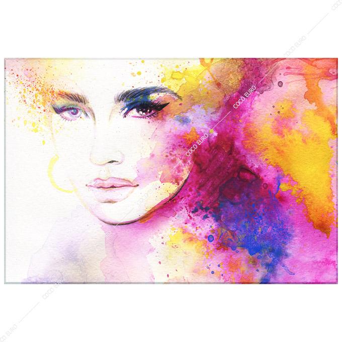 絵画 PLEXIGLAS Aquarelle Portrait2 SIZE mm 1350*2000アート 装飾 壁 絵 最上位モデル 高級 フレームレス