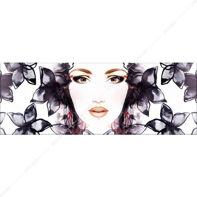 絵画 おしゃれ PLEXIGLAS flowers SIZE mm 300*1100 アート 装飾 壁 絵 ココ コブラアート正規品 高級 フレームレス