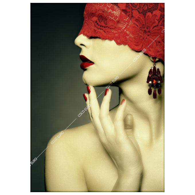 絵画 壁掛け モダン Ruban rouge2 SIZE/mm 960*1350 おしゃれ 絵 インテリア コンドミニアム リビング 寝室 玄関 壁に飾る絵