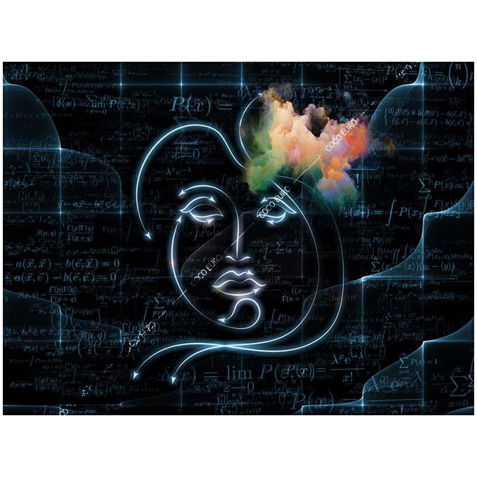 絵画 大型 高級 PLEXIGLAS Human Geometry2 SIZE/mm 900*1200 「希少なSymbolArtで神秘的なひと時を。」シンボル 装飾 絵 壁絵 ラウンジ VIP