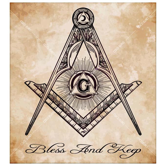 絵画 大型 高級 PLEXIGLAS Masonic square compass SIZE/mm 900*1000 「希少なSymbolArtで神秘的なひと時を。」シンボル 装飾 絵 壁絵 ラウンジ VIP