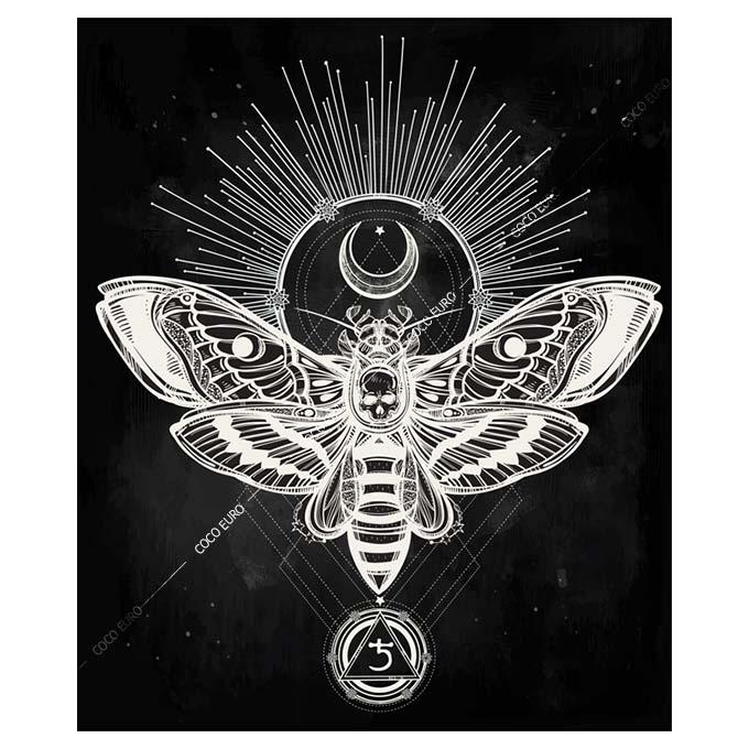 絵画 大型 高級 PLEXIGLAS Hawk moth SIZE/mm 900*1070 「希少なSymbolArtで神秘的なひと時を。」シンボル 装飾 絵 壁絵 ラウンジ VIP