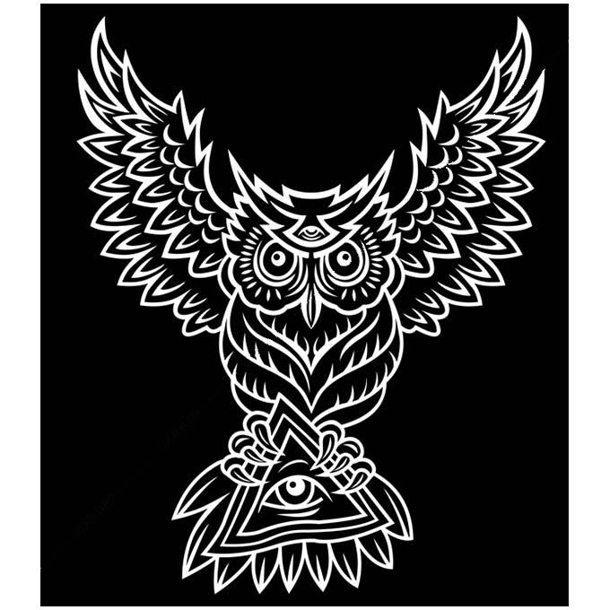 絵画 大型 高級 PLEXIGLAS Illuminati owl SIZE/mm 1330*1520 「希少なSymbolArtで神秘的なひと時を。」シンボル 装飾 絵 壁絵 ラウンジ VIP