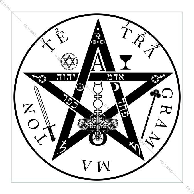 絵画 大型 高級 PLEXIGLAS The Pentagram SIZE/mm 1000*1000 「希少なSymbolArtで神秘的なひと時を。」シンボル 装飾 絵 壁絵 ラウンジ VIP
