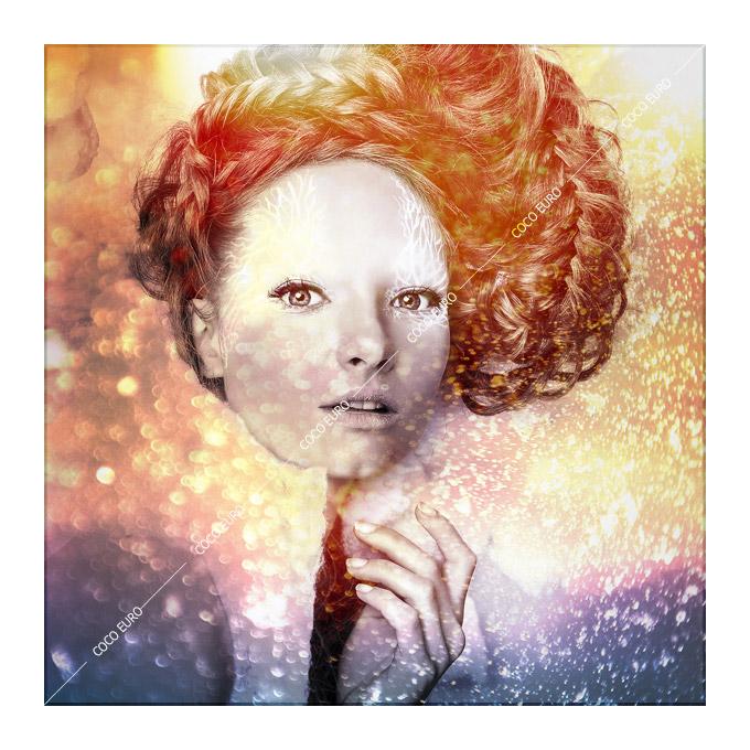 アート 壁掛け インテリア Romantic beauty1 SIZE 750x750mm 絵画 PLEXIGLAS【最高級マテリアル】