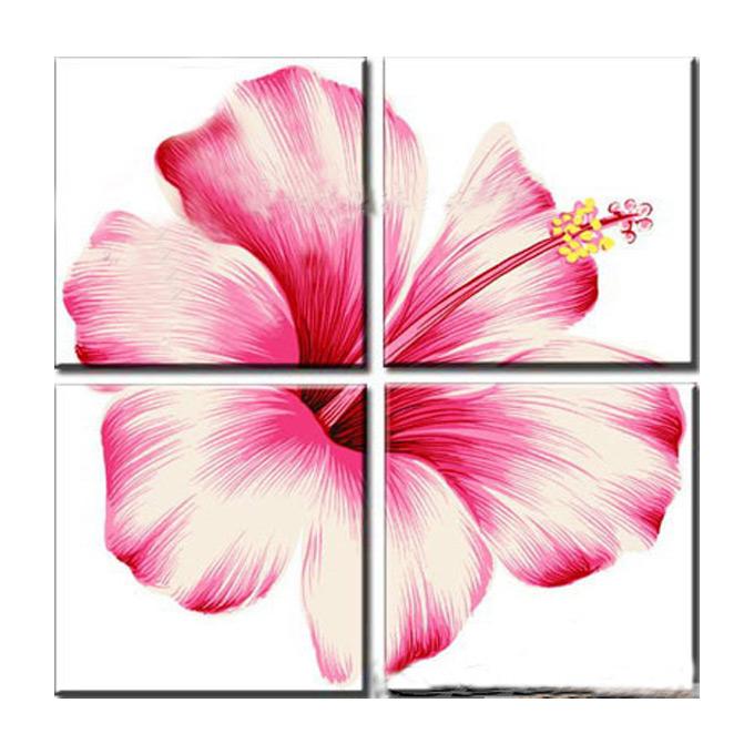 【SALE対象品】絵画 フローラル アート(花柄) 4枚組W600mm ハーフサイズ 一般住宅向絵画 壁掛け インテリア 抽象アート 花柄 和風 和モダン等 約400種を取扱住空間のリニューアル リフォーム等へ