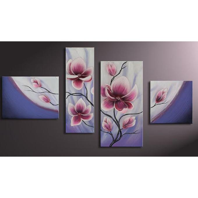 【SALE対象品】 和モダン オリエンタルアート 4枚組 W1100mmハーフサイズ 一般住宅向絵画 壁掛け インテリア 抽象アート 花柄 和風 和モダン等 約400種を取扱住空間のリニューアル リフォーム等へ