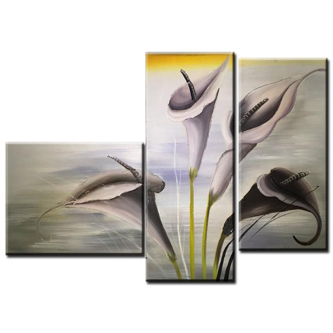 【SALE対象品】 絵画 和モダン オリエンタルアート 3枚組 W900mmハーフサイズ 一般住宅向絵画 壁掛け インテリア 抽象アート 花柄 和風 和モダン等 約400種を取扱住空間のリニューアル リフォーム等へ