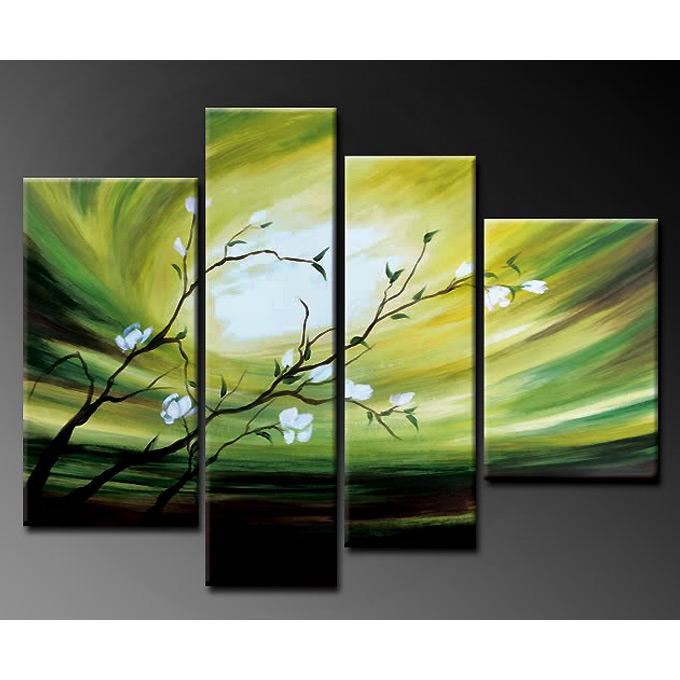 【SALE対象品】 絵画和モダン オリエンタルアート 4枚組 W900mmハーフサイズ 一般住宅向絵画 壁掛け インテリア 抽象アート 花柄 和風 和モダン等 約400種を取扱住空間のリニューアル リフォーム等へ