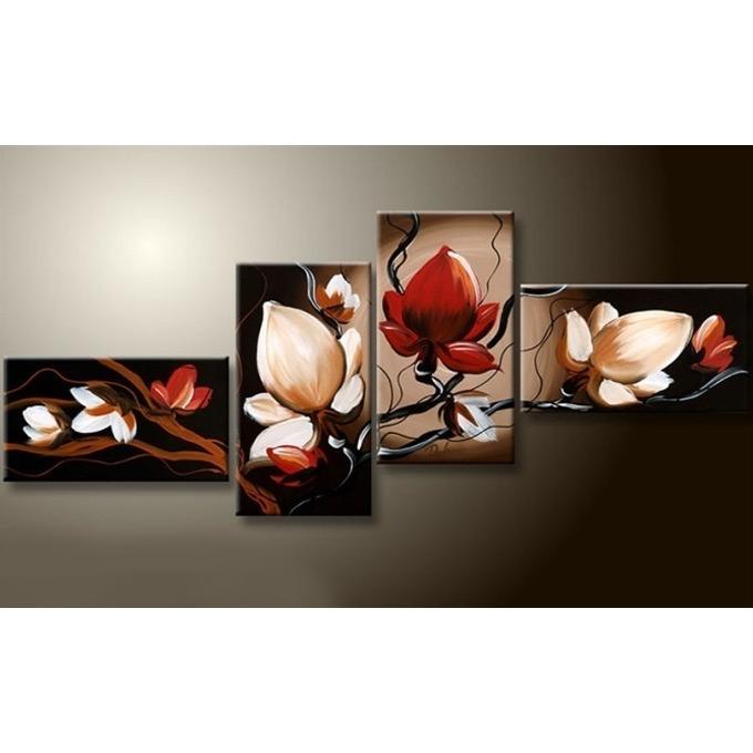 【SALE対象品】絵画 和モダン オリエンタルアート 4枚組 W1100mm ハーフサイズ 一般住宅向 壁掛け インテリア 抽象アート 花柄 和風 和モダン等 約400種を取扱