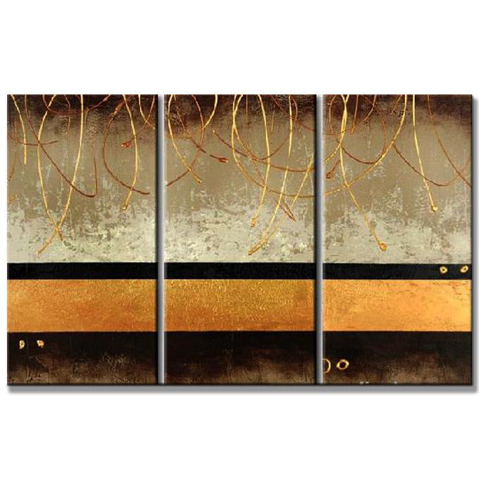 絵画 インテリア 茶金の抽象/油絵 モダン おしゃれ 壁掛け アートパネル 絵 リビング 玄関 壁 飾る 壁飾り Sサイズ