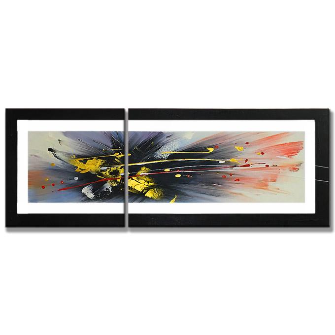 絵画 壁掛け インテリア 【群青の抽象】2枚組W800mm 斬新な筆使いで描き出すモダンアートハーフ(小さい)size リビング 玄関の壁掛け インテリア 抽象 和風 和モダン一般住宅向け リフォーム リノベーション