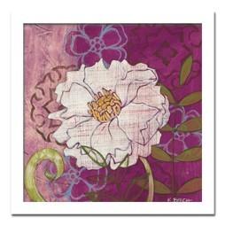 絵画 花 壁掛け インテリア 初めてのアートなら「安定の抽象花柄デザイン」ロングセラー商品 壁掛け 額入り 完成品Kate Birch/White Peony
