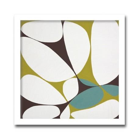 絵画 花 壁掛け インテリア 初めてのアートなら「安定の抽象花柄デザイン」ロングセラー商品 壁掛け 額入り 完成品Marilu Datali Hartnett FLOWER POWER11 フラワーパワーシリーズ