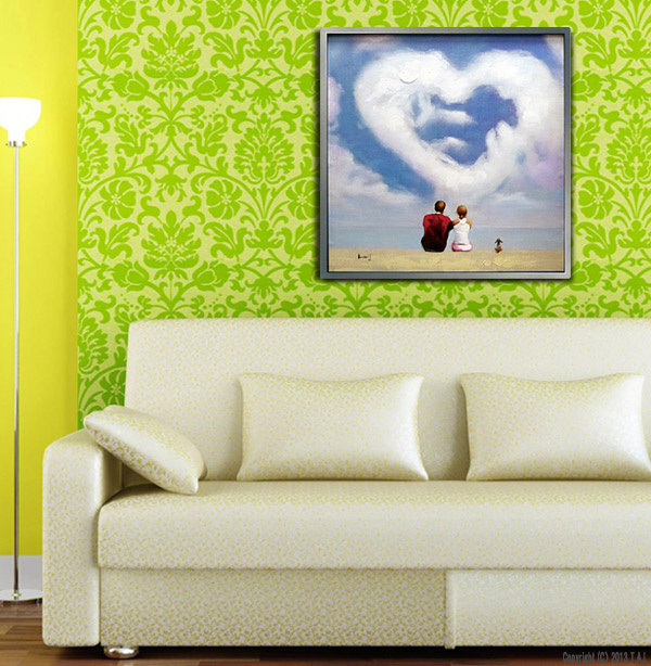 Framed Paintings Hanging On The Wall Painting Heart Hallway Kitchen Living Toilet Large Abstract Paintings Landscape Oil Painting Ani And