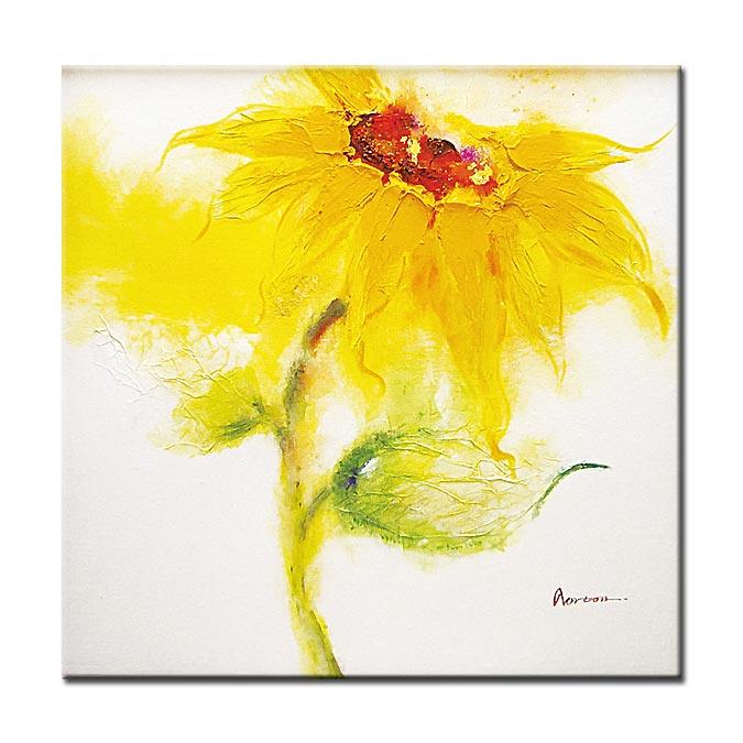 그림 아트 벽 걸이 해바라기 그림 큰 유화 추상화 꽃무늬 벽 아트 풍수 히트 여름 방향