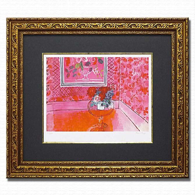 絵画 インテリア おしゃれ バラ色の人生【デュフィ】オフィスや店舗向けのディスプレイに豪華なつくりでプレゼントにもオススメ