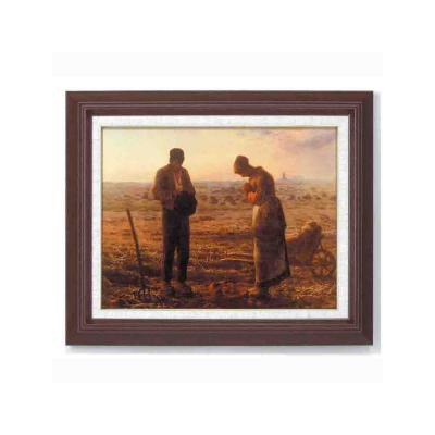 【初めての絵画】ミレー『晩鐘』木の額 飽きの来ない6号サイズ 複製画 洋画 有名な絵画 油絵お任せ下さい!初めての絵画購入<返品交換OK 代引手数料無料> ミレー 【晩鐘-ばんしょう】複製画