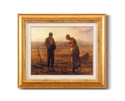 【初めての絵画】ミレー『晩鐘』金の額 飽きの来ない6号サイズ 複製画 洋画 有名な絵画 油絵お任せ下さい!初めての絵画購入 ミレー 【晩鐘-ばんしょう】複製画