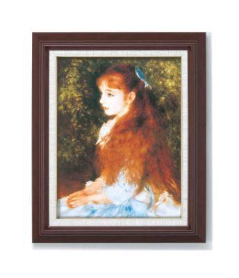 ルノアール(ルノワール)木の額 手軽なF6号サイズ 複製画 洋画 有名な絵画 油絵お任せ下さい!初めての絵画購入「イレーヌ・カーン・ダンヴェルス嬢」「可愛いイレーネ」複製画