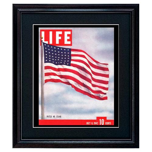 LIFE アートポスター インテリア「星条旗」おしゃれ 絵 壁掛け 絵画 ライフポスター 復刻 雑誌 表紙 フレーム付き COVERDESIGN