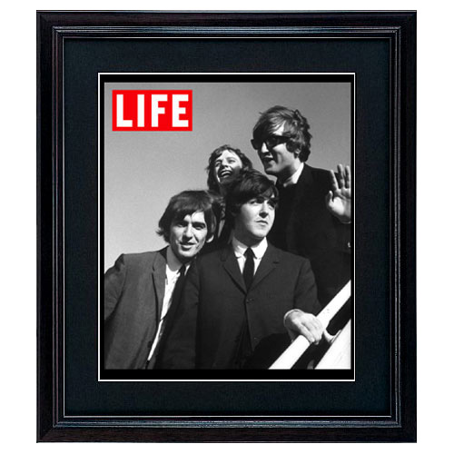 Beatles Rare Photo Frame The Reprint Cover Handle Black Wood Amount Framed Art Poster LIFE American Magazine Pattern