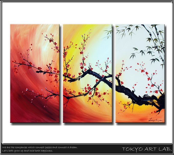 Decorate The Room With Private Toilet Painting Art Oil Abstract Paintings Fl Anese Pattern Landscape Living Dining