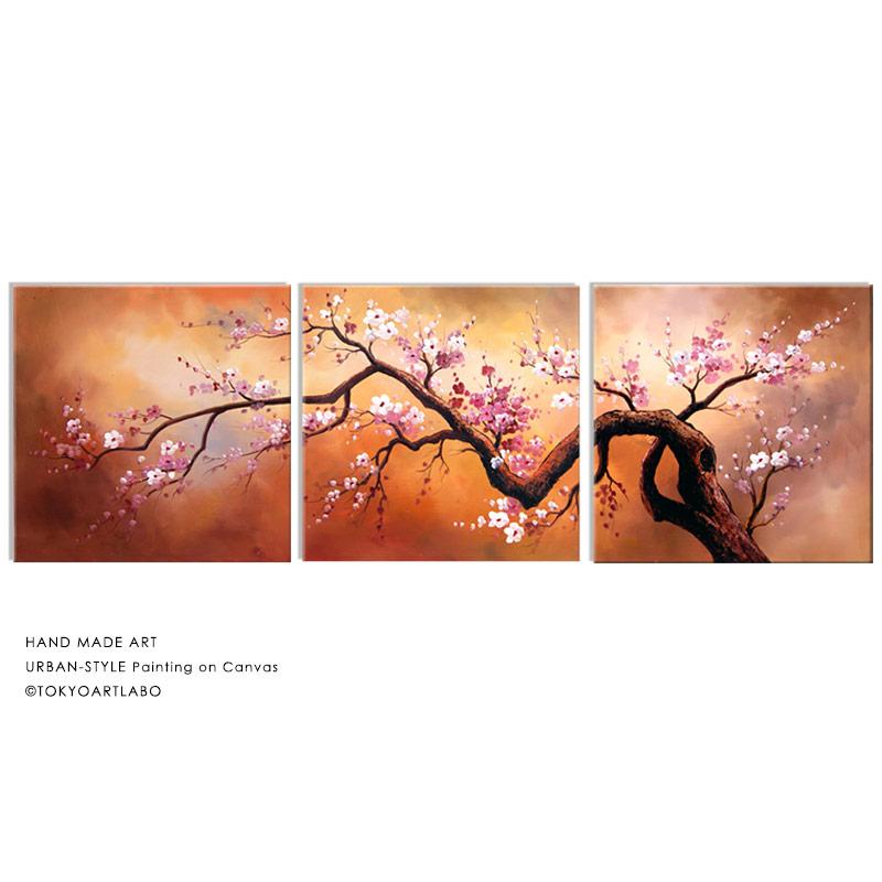 桜の絵 大型【初春の山桜】W180cm おしゃれ 絵 壁掛け インテリア 横長「和を基調とした、華やかでおしゃれな空間創りに」分割タイプの壁掛けアート