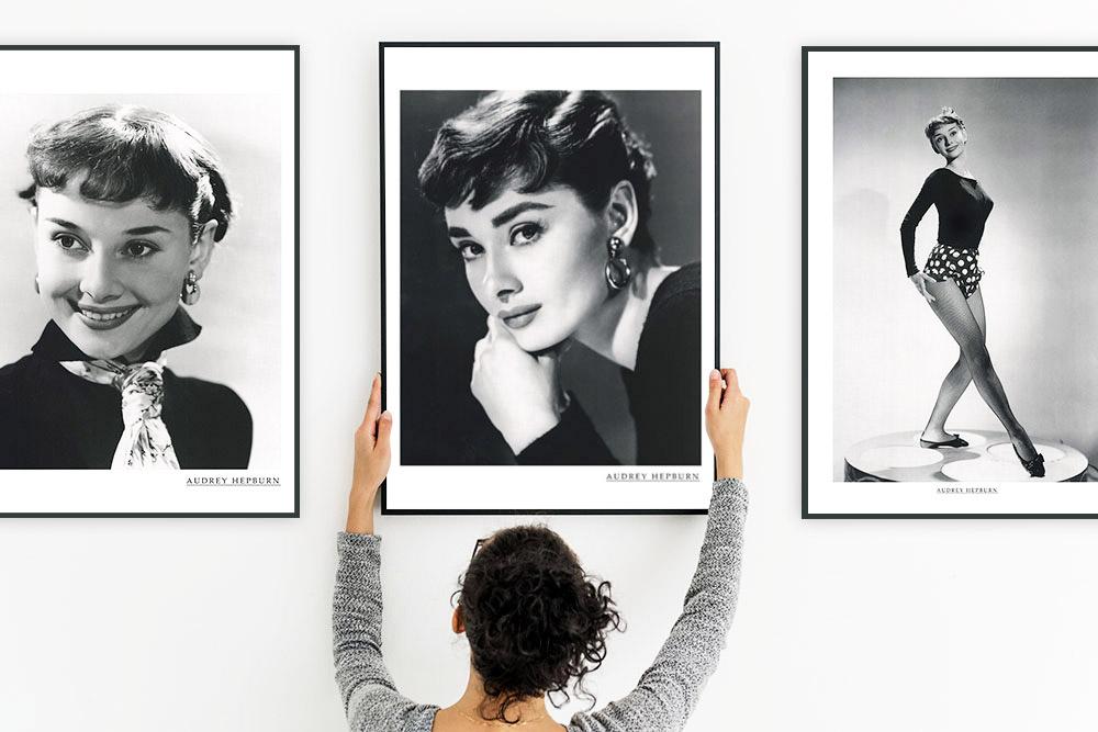 おしゃれカフェやサロンのような雰囲気に お部屋をリメイクアートポスター \スーパーSALE 8周年 ヘップバーンスマイル 一部予約 無料サンプルOK ポスター オードリーヘプバーン アートポスター モノクロ A2 白黒 おしゃれ インテリア 壁掛け 絵