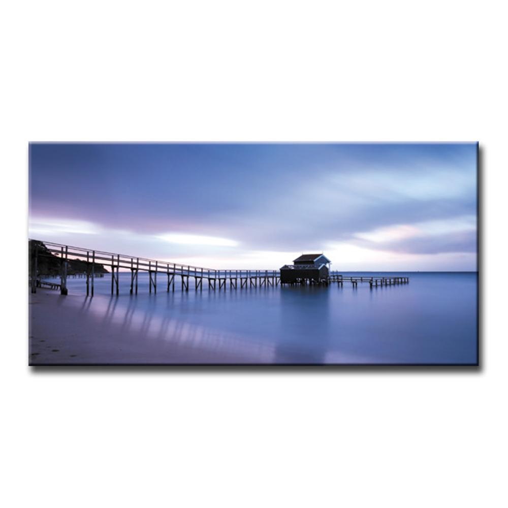 日の出 サンライズ Sun Riseファブリックパネル おしゃれ 絵 壁掛け インテリア 額無し 横長 LL 100cm×50cm アートパネル