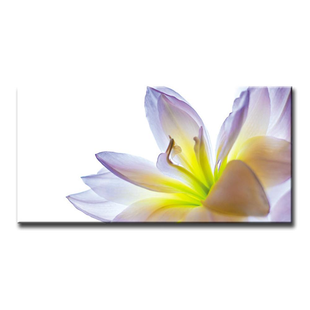 リリー Lily 花の絵 ファブリックパネル おしゃれ 絵 壁掛け インテリア インテリアアート 額無し 横長 LL 100cm×50cm キャンバスプリント