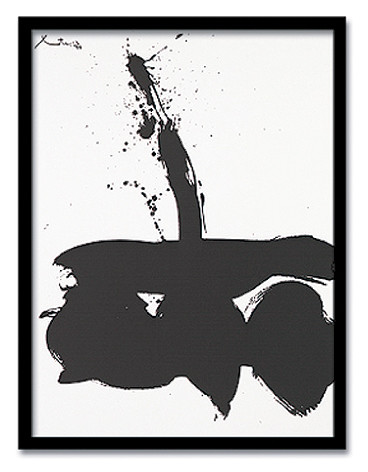 絵画 モダン 抽象 OBERT MOTHERWELL/Sumurai N,1 1974 インテリア 壁掛け 絵 おしゃれ 壁絵 飾り 装飾 壁 北欧 アート 額入り ダイニング 寝室 玄関 リビング プレゼント【店頭受取対応商品】