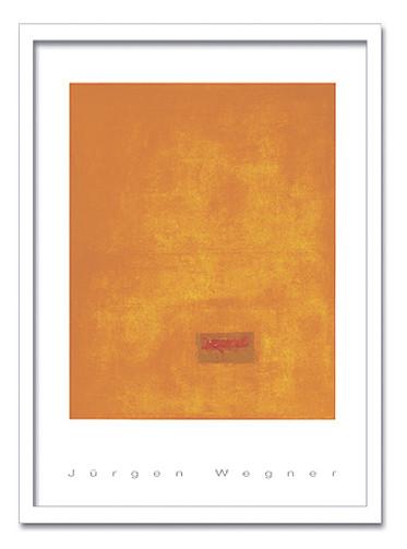 絵画 モダン 抽象 JURGEN WEGNER/Untitled,1991(orange) 2005 インテリア 壁掛け 絵 おしゃれ 壁絵 飾り 装飾 壁 北欧 アート 額入り ダイニング 寝室 玄関 リビング プレゼント【店頭受取対応商品】