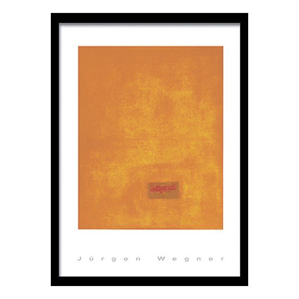 絵画 インテリア JURGEN WEGNER/Untitled,1991(orange)おしゃれ 壁掛け インテリア 壁絵 額絵 装飾 アート 北欧 ヴィラ モデルルーム