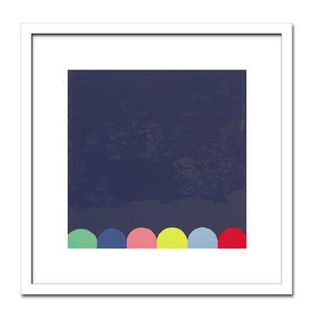 絵画 モダン 抽象 THERRY MONTIGNY/Untitlled(Blue)2005 インテリア 壁掛け 絵 おしゃれ 壁絵 飾り 装飾 壁 北欧 アート 額入り ダイニング 寝室 玄関 リビング プレゼント【店頭受取対応商品】