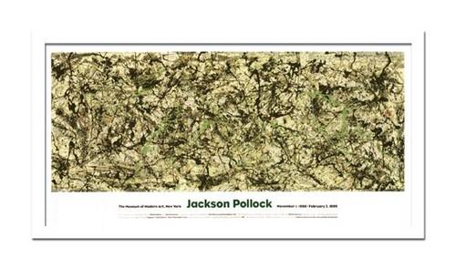モダンアート 絵画 大型 抽象 横長 巨匠 ジャクソンポロック Jackson Pollock Zeichnung trepftechnik絵 おしゃれ 壁掛け インテリア 有名 額入りホテル クリニック 病院 福祉施設 応接室 休憩室 待合室