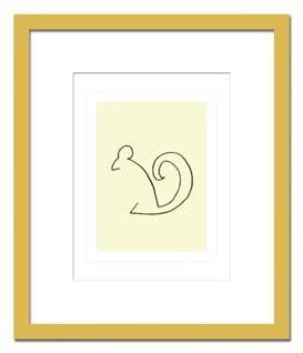 絵画 Picasso L'Ecureuil ピカソ リスおしゃれ 壁掛け アート インテリア 有名 額入り 額付き アートポスター