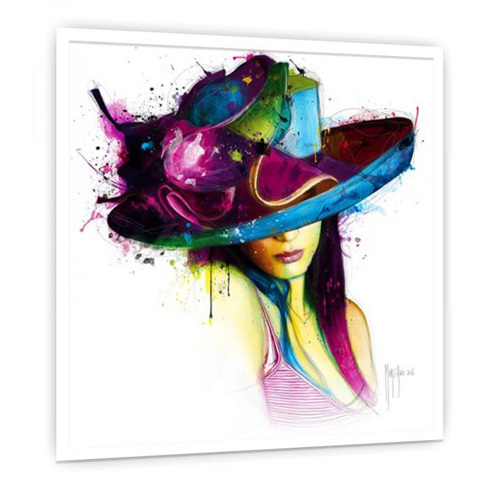 LaJeuneFilleauChapeau 絵画 インテリア 壁掛け アート 額入り ポスター アートポスター アートフレーム デザイナーズ ビビッド