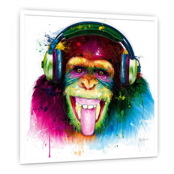DJ Monkey 絵画 おしゃれ インテリア 絵 壁掛けアート 額入り カフェ ギャラリー クラブ サロン スパ ホテル モダン リビング ダイニング デザイナーズ ビビッド