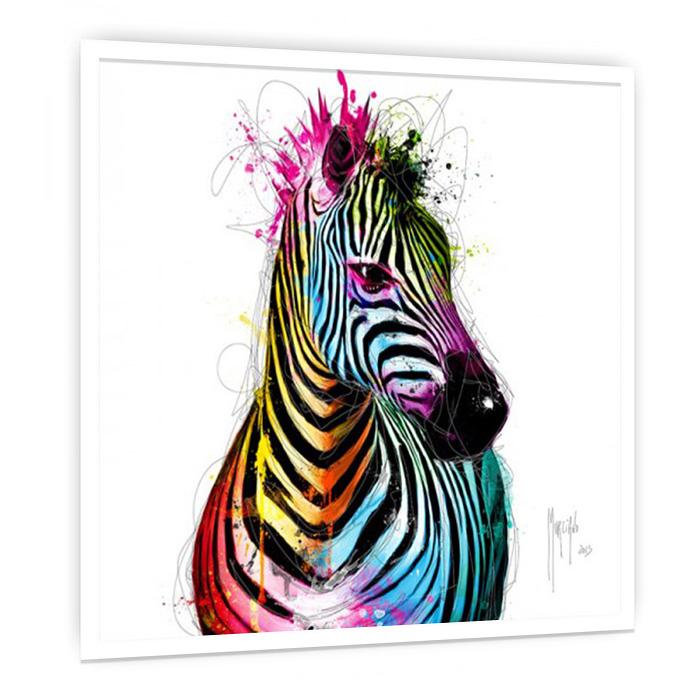 Zebra Pop 絵画 おしゃれ インテリア 絵 壁掛けアート 額入り カフェ ギャラリー クラブ サロン スパ ホテル モダン リビング ダイニング デザイナーズ ビビッド