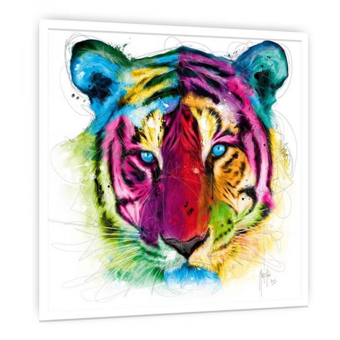 Tiger Pop 絵画 おしゃれ インテリア 絵 壁掛けアート 額入り カフェ ギャラリー クラブ サロン スパ ホテル モダン リビング ダイニング デザイナーズ ビビッド